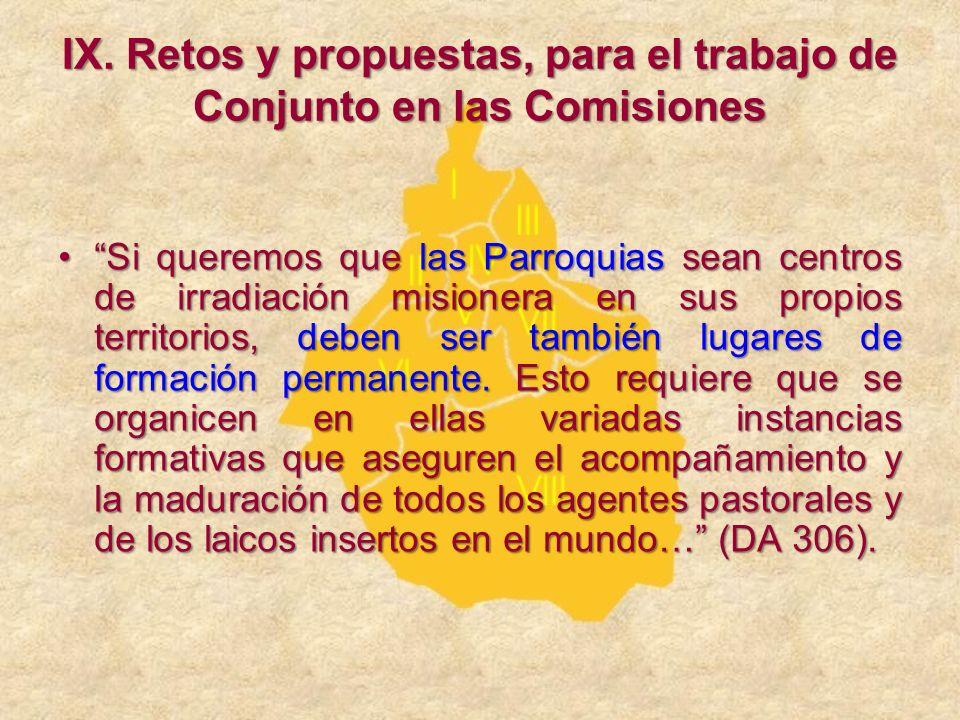 IX. Retos y propuestas, para el trabajo de Conjunto en las Comisiones