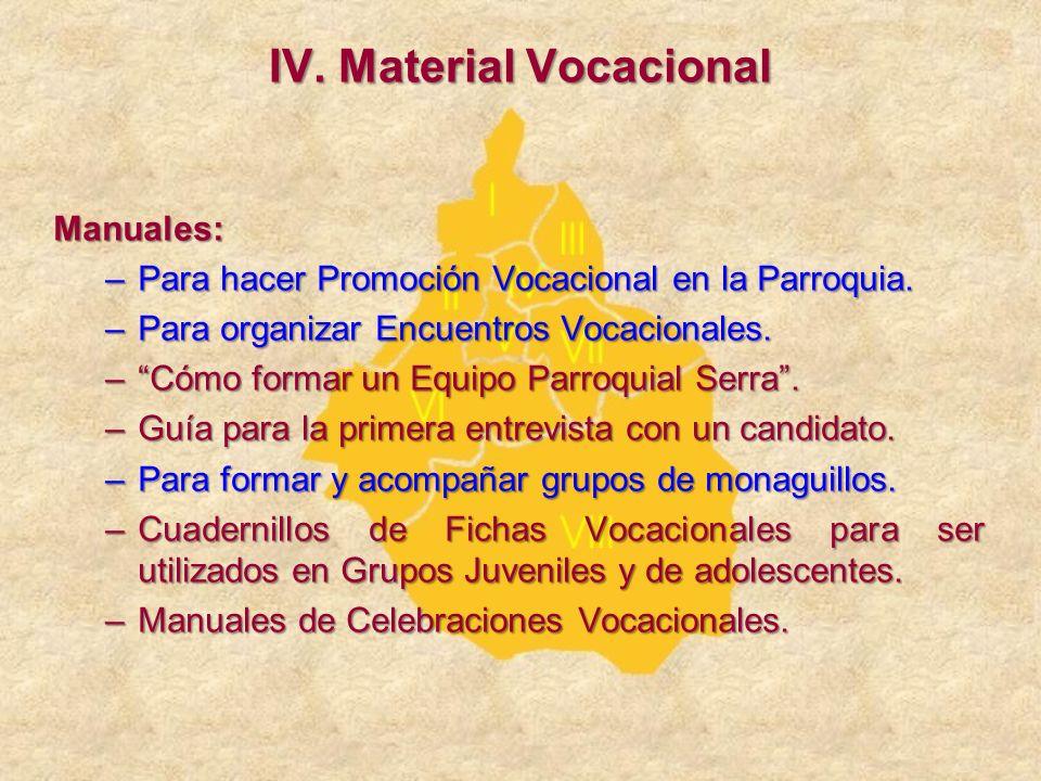 IV. Material Vocacional