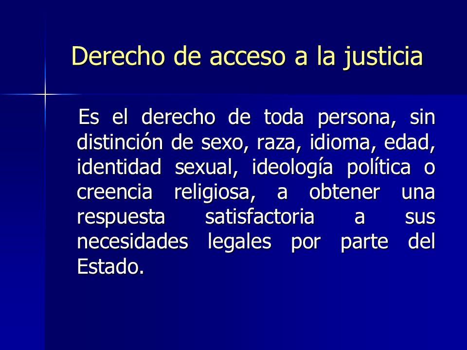 Derecho de acceso a la justicia