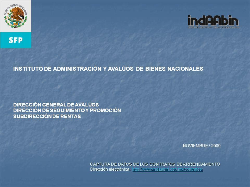 INSTITUTO DE ADMINISTRACIÓN Y AVALÚOS DE BIENES NACIONALES