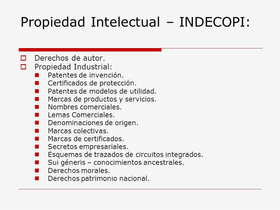 Propiedad Intelectual – INDECOPI: