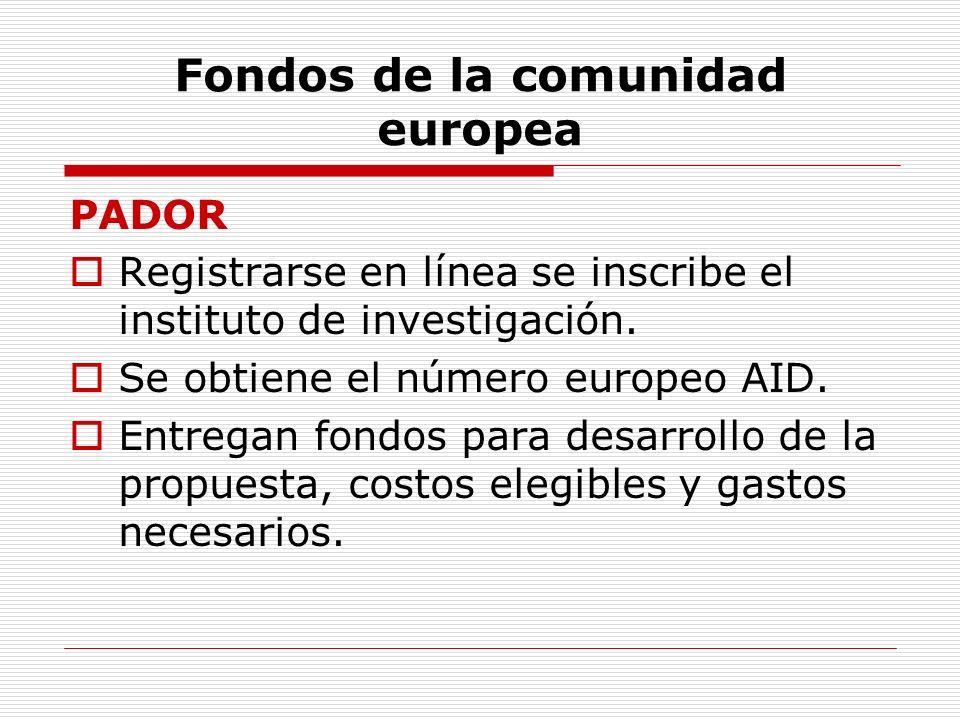 Fondos de la comunidad europea