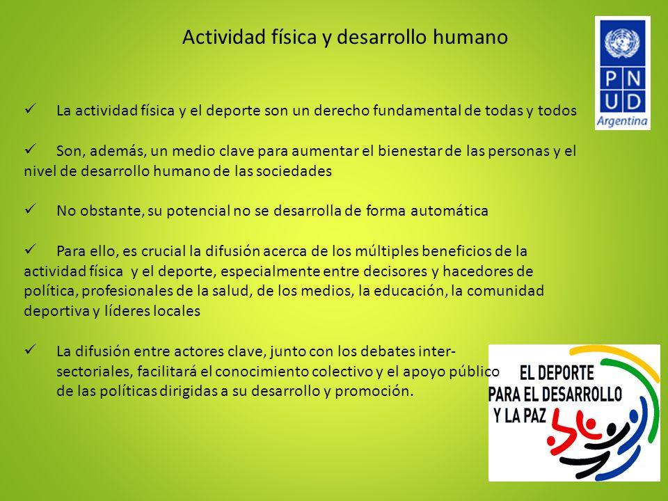 Actividad física y desarrollo humano