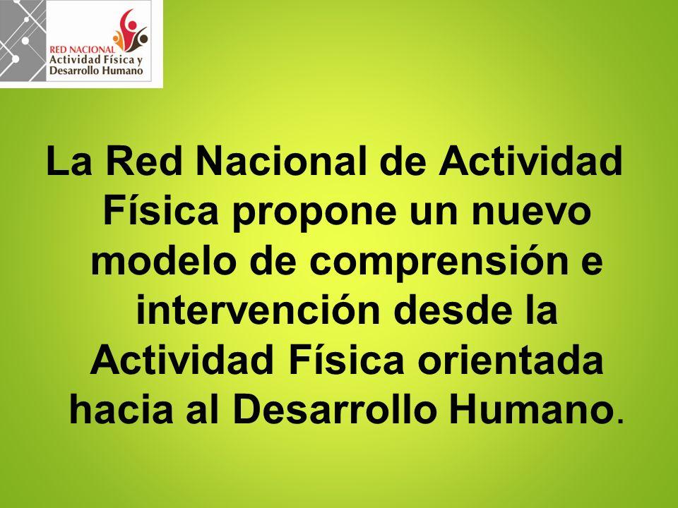 La Red Nacional de Actividad Física propone un nuevo modelo de comprensión e intervención desde la Actividad Física orientada hacia al Desarrollo Humano.