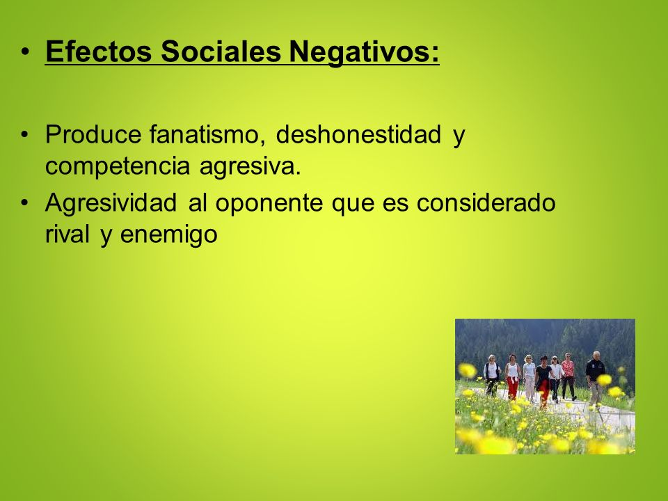 Efectos Sociales Negativos: