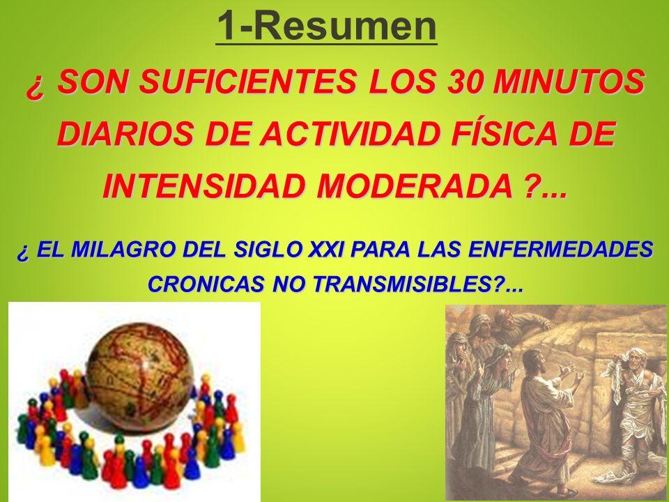 1-Resumen ¿ SON SUFICIENTES LOS 30 MINUTOS DIARIOS DE ACTIVIDAD FÍSICA DE INTENSIDAD MODERADA ...
