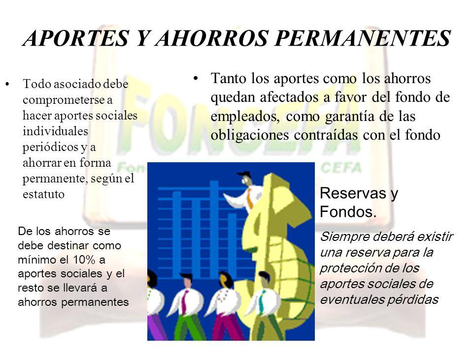 APORTES Y AHORROS PERMANENTES