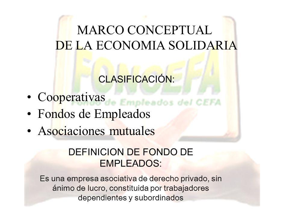 MARCO CONCEPTUAL DE LA ECONOMIA SOLIDARIA