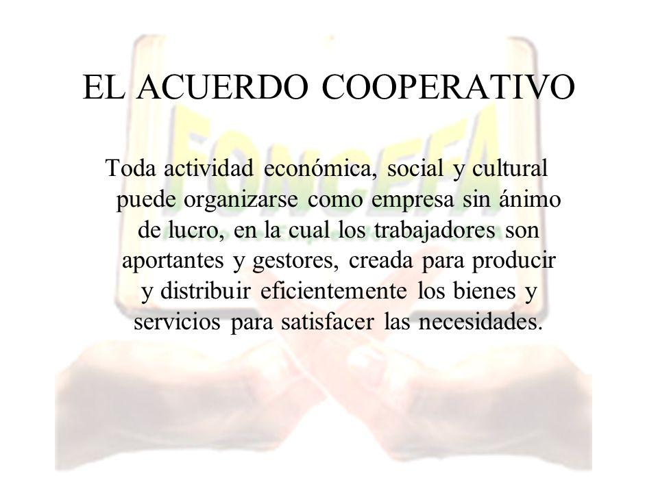 EL ACUERDO COOPERATIVO