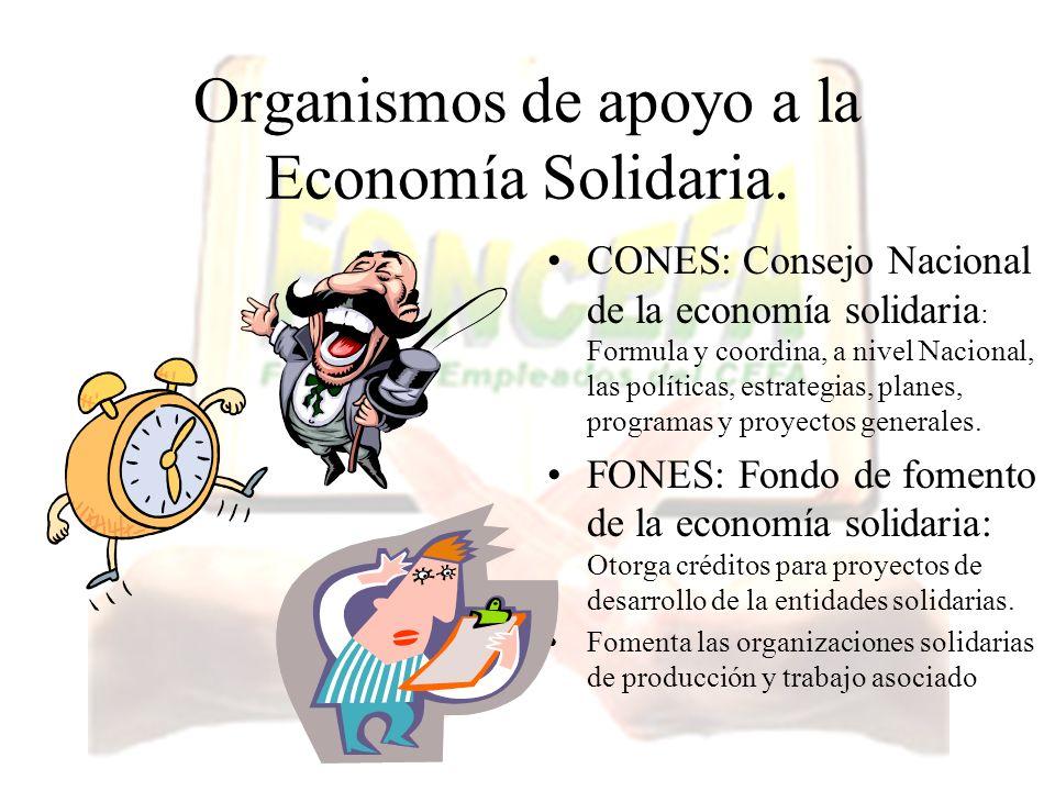 Organismos de apoyo a la Economía Solidaria.