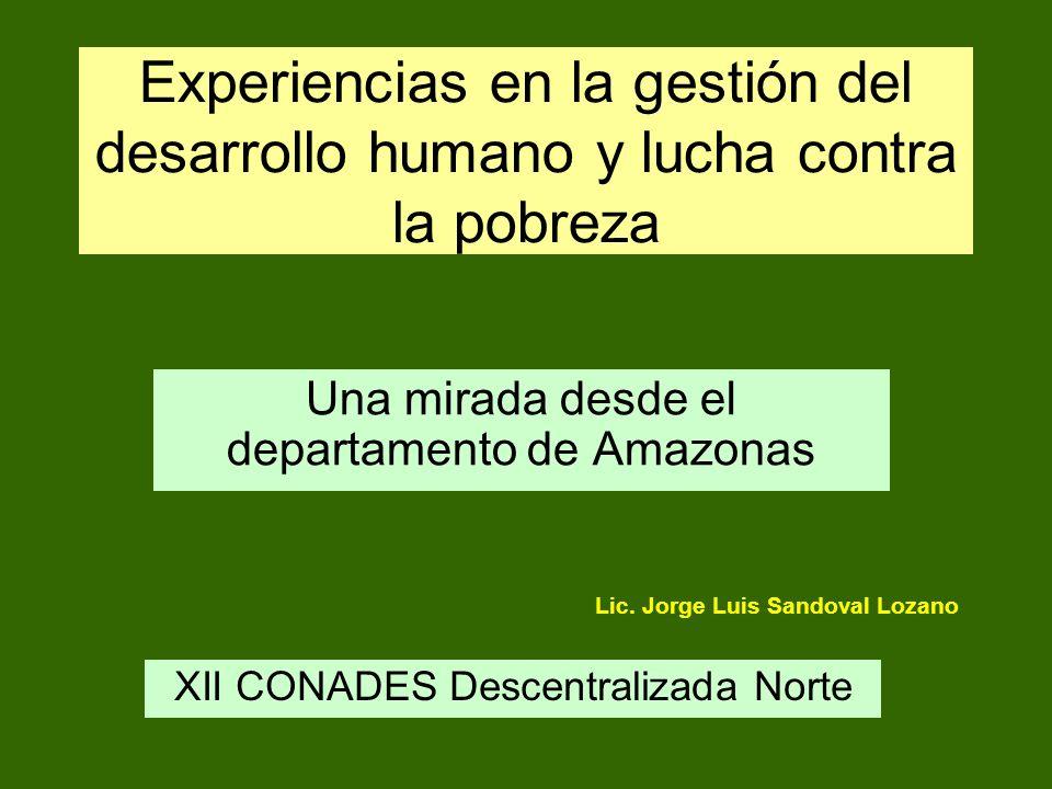 Una mirada desde el departamento de Amazonas
