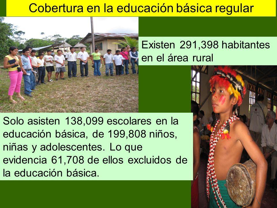 Cobertura en la educación básica regular