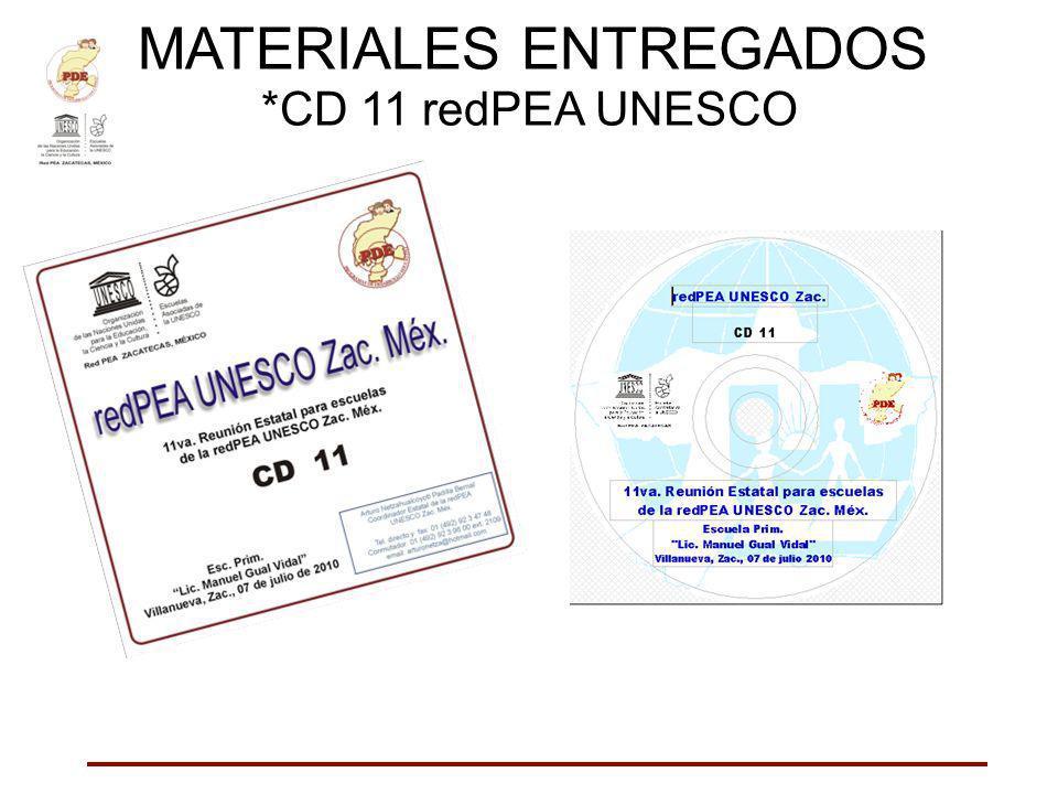 MATERIALES ENTREGADOS