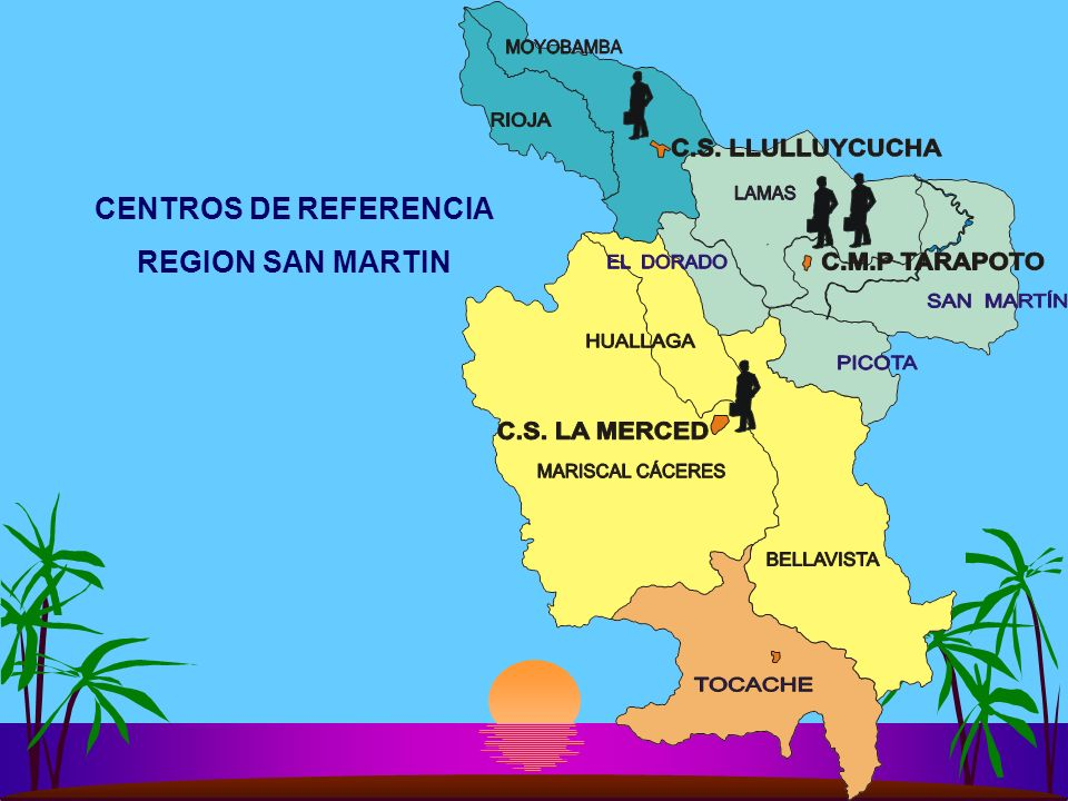 CENTROS DE REFERENCIA REGION SAN MARTIN
