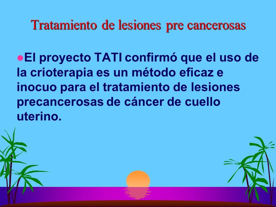 Tratamiento de lesiones pre cancerosas