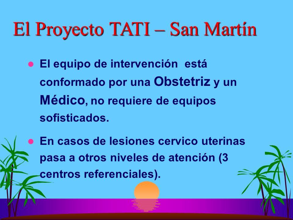 El Proyecto TATI – San Martín