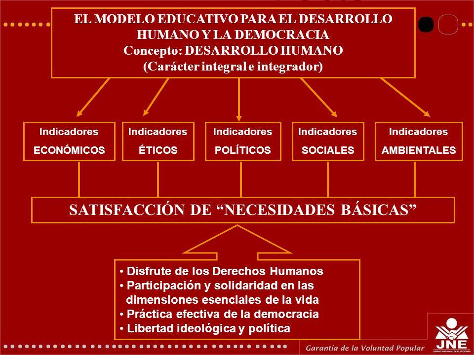 SATISFACCIÓN DE NECESIDADES BÁSICAS