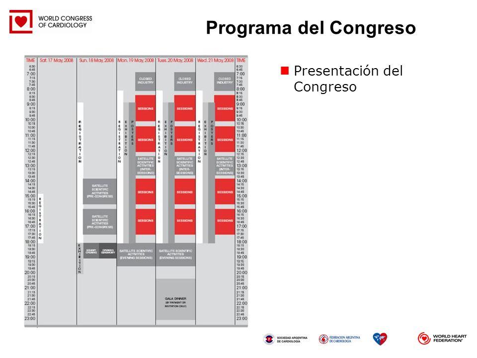 Programa del Congreso Presentación del Congreso