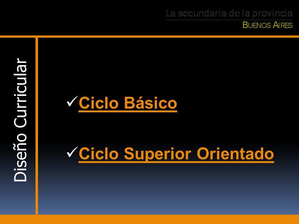 Ciclo Básico Ciclo Superior Orientado Diseño Curricular