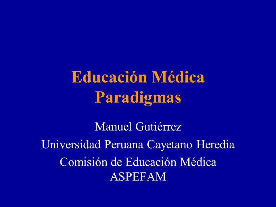 Educación Médica Paradigmas