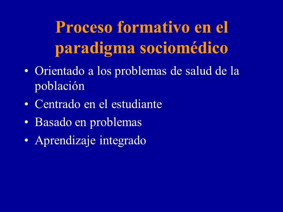 Proceso formativo en el paradigma sociomédico