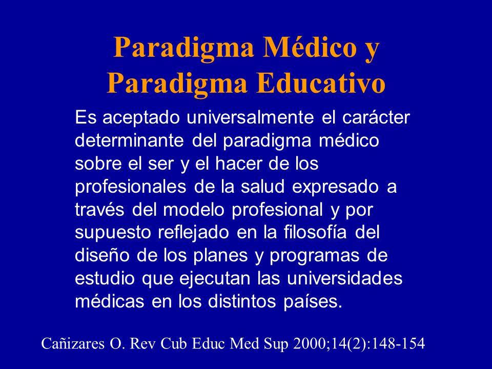 Paradigma Médico y Paradigma Educativo