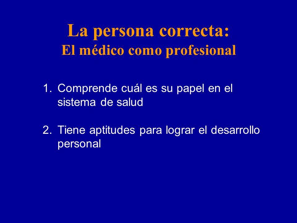 La persona correcta: El médico como profesional