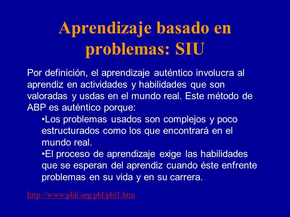 Aprendizaje basado en problemas: SIU