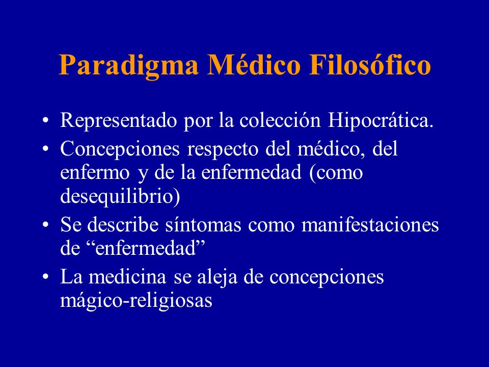 Paradigma Médico Filosófico