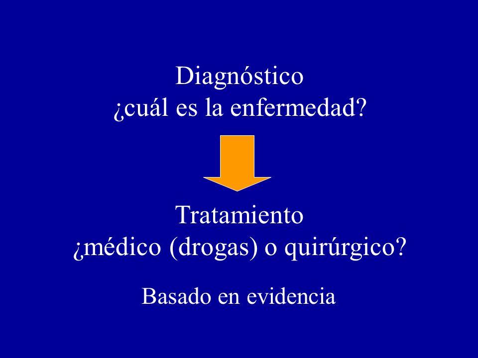 ¿médico (drogas) o quirúrgico