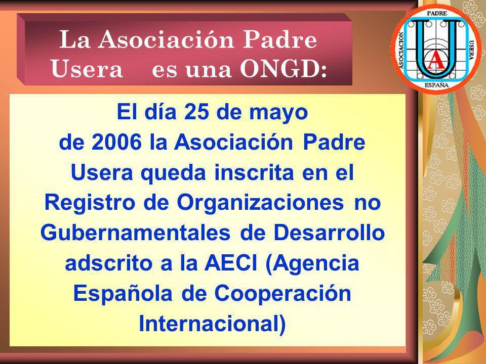 La Asociación Padre Usera es una ONGD: