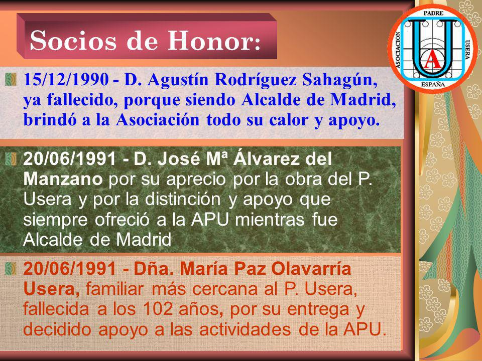 Socios de Honor: