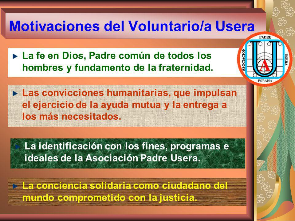 Motivaciones del Voluntario/a Usera