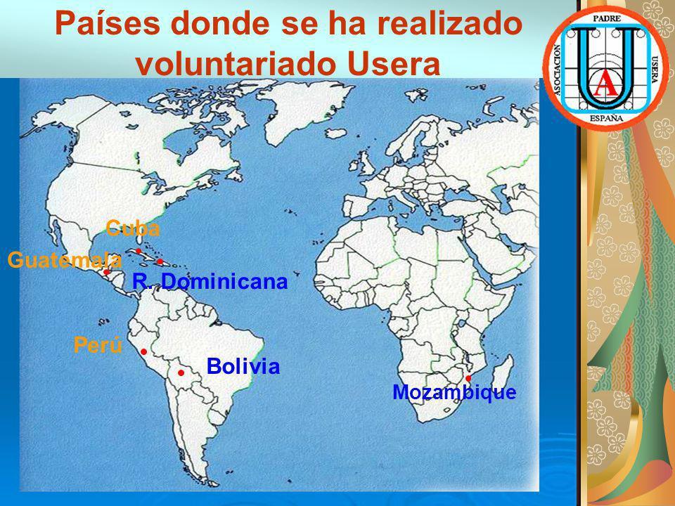 Países donde se ha realizado voluntariado Usera