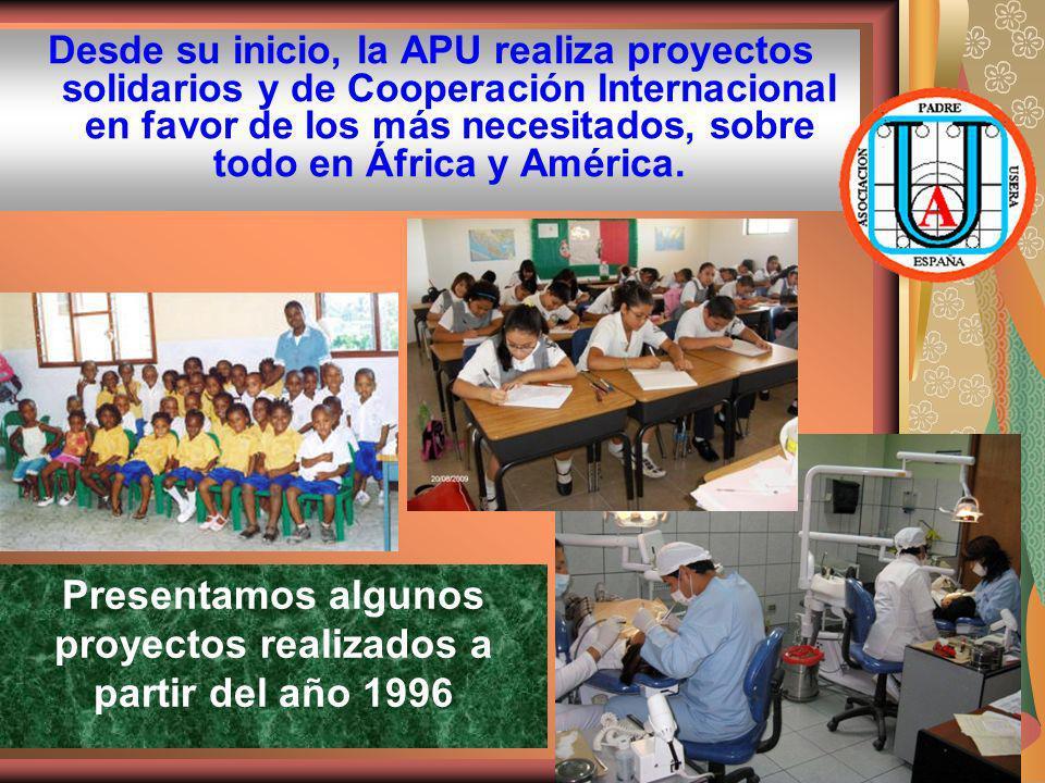Presentamos algunos proyectos realizados a partir del año 1996