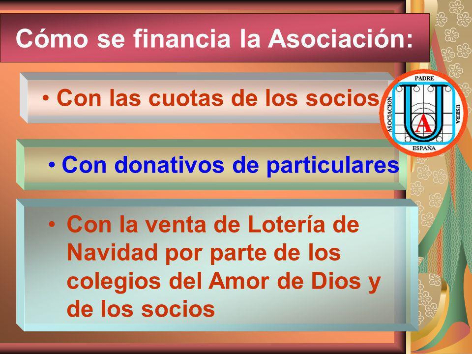 Cómo se financia la Asociación:
