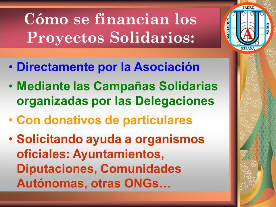 Cómo se financian los Proyectos Solidarios: