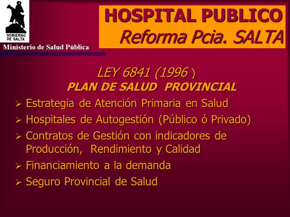 HOSPITAL PUBLICO Reforma Pcia. SALTA