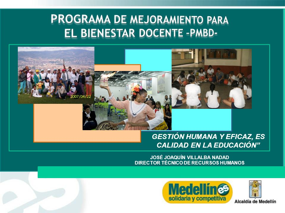 PROGRAMA DE MEJORAMIENTO PARA EL BIENESTAR DOCENTE –PMBD-