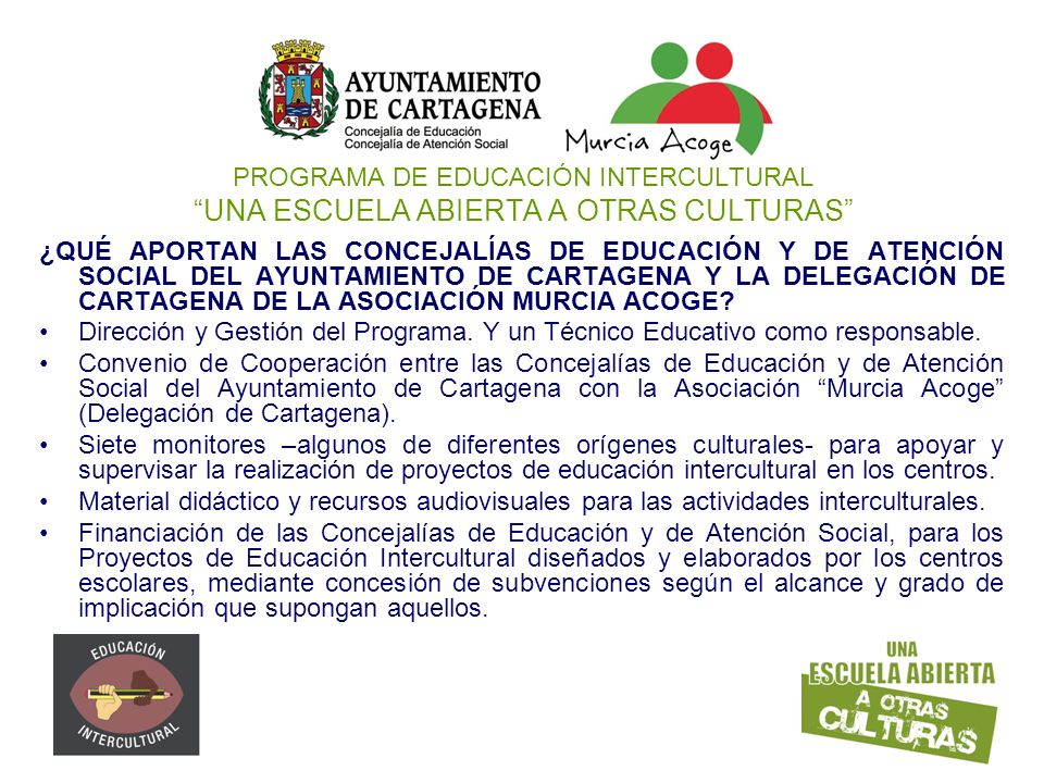 PROGRAMA DE EDUCACIÓN INTERCULTURAL UNA ESCUELA ABIERTA A OTRAS CULTURAS
