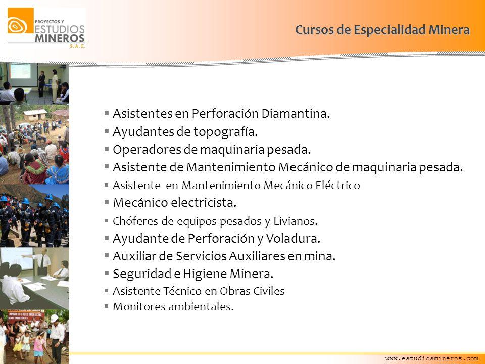 Cursos de Especialidad Minera