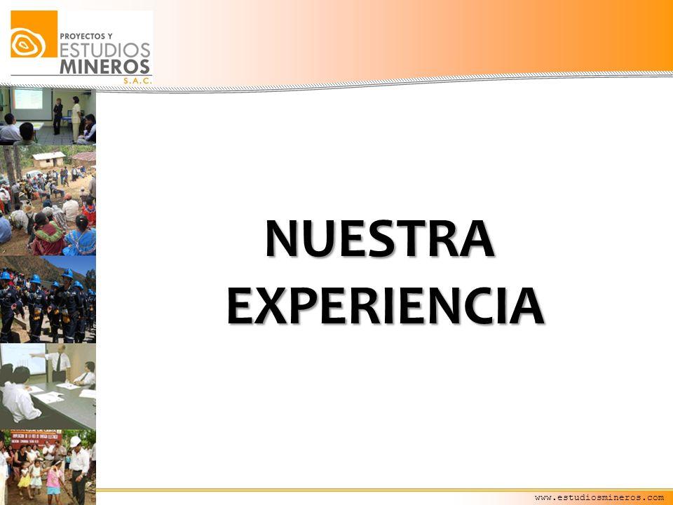 NUESTRA EXPERIENCIA www.estudiosmineros.com