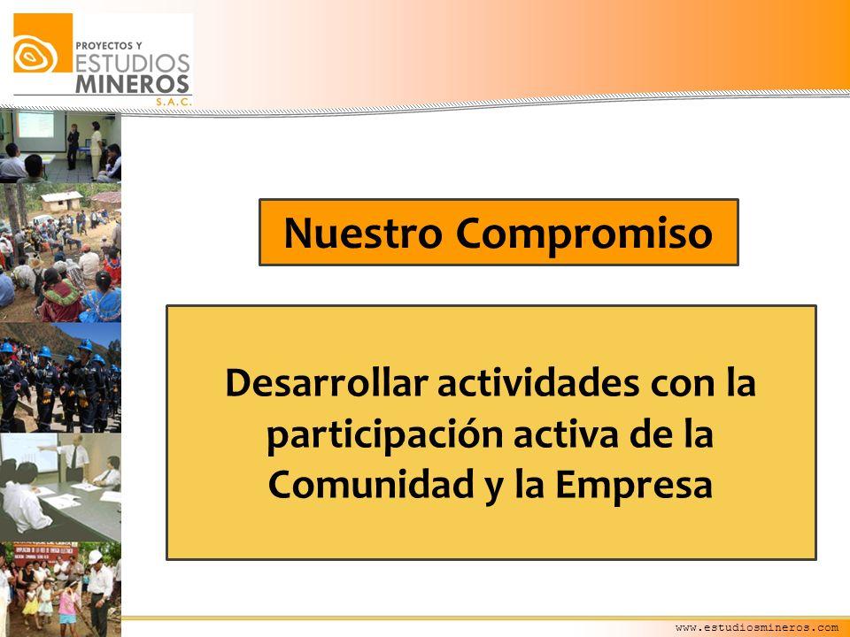 Nuestro Compromiso Desarrollar actividades con la participación activa de la Comunidad y la Empresa.
