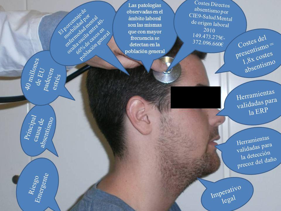 Las patologías observadas en el ámbito laboral son las mismas que con mayor frecuencia se detectan en la población general