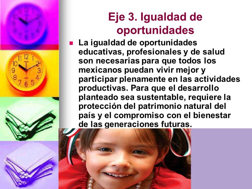 Eje 3. Igualdad de oportunidades