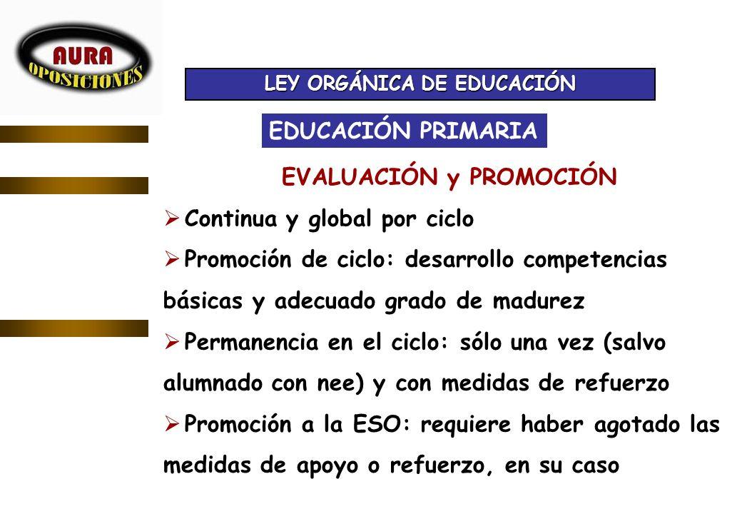 LEY ORGÁNICA DE EDUCACIÓN EVALUACIÓN y PROMOCIÓN