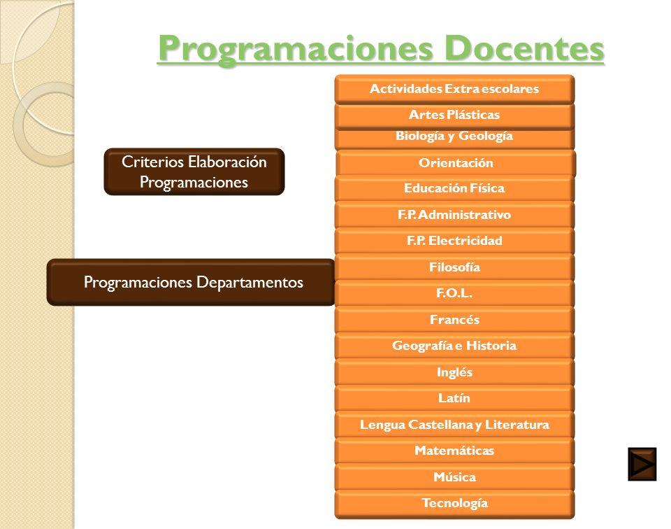 Programaciones Docentes