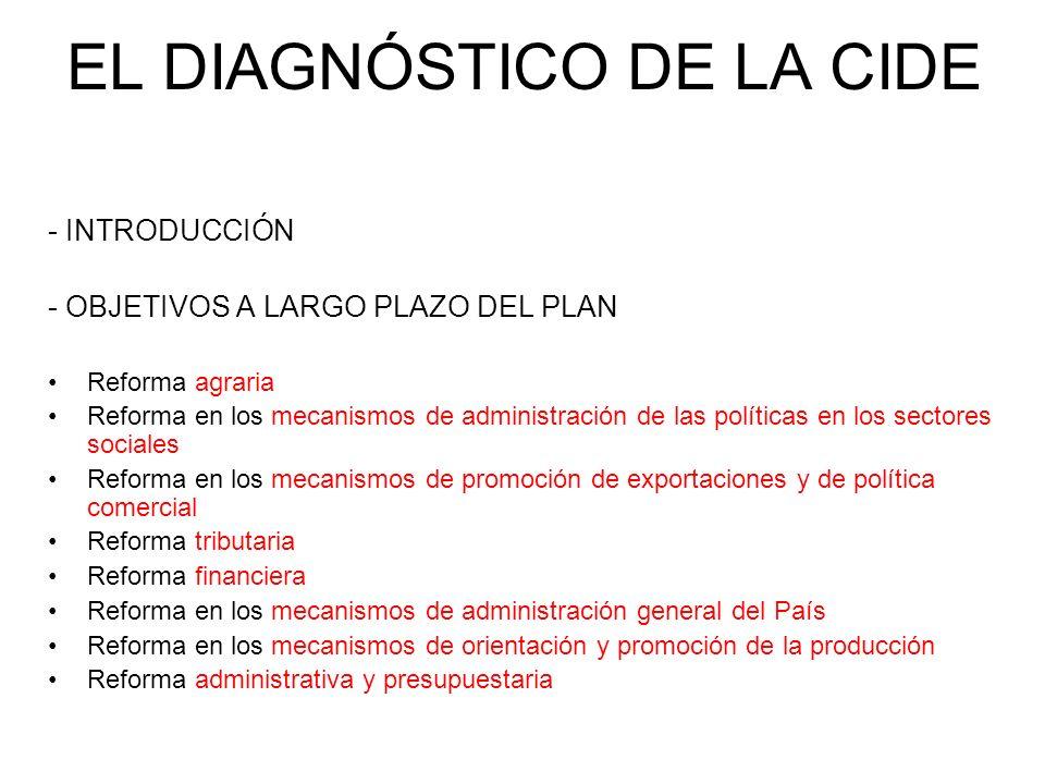 EL DIAGNÓSTICO DE LA CIDE