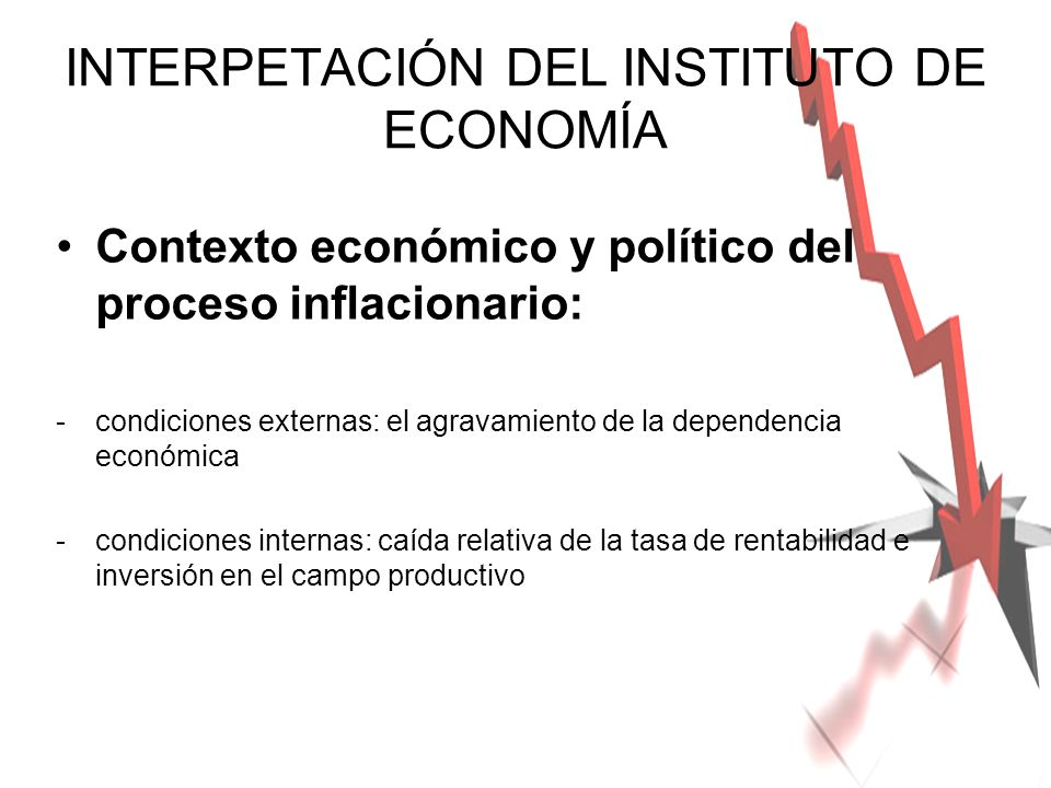 INTERPETACIÓN DEL INSTITUTO DE ECONOMÍA