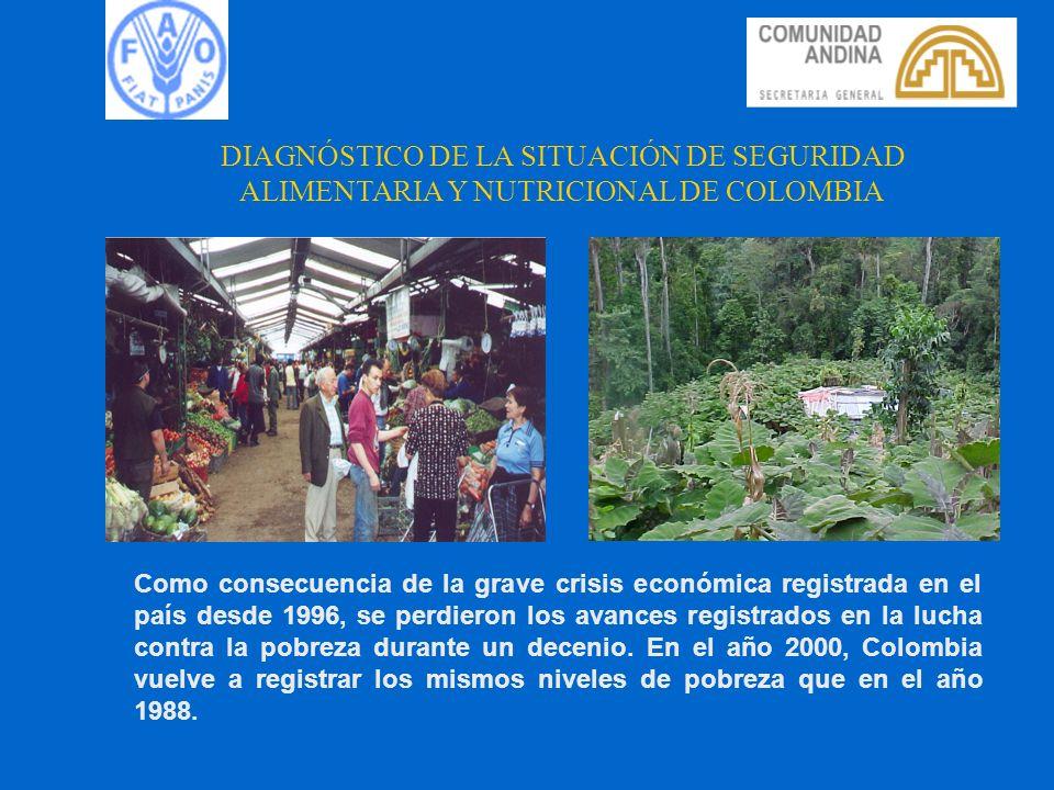 DIAGNÓSTICO DE LA SITUACIÓN DE SEGURIDAD ALIMENTARIA Y NUTRICIONAL DE COLOMBIA